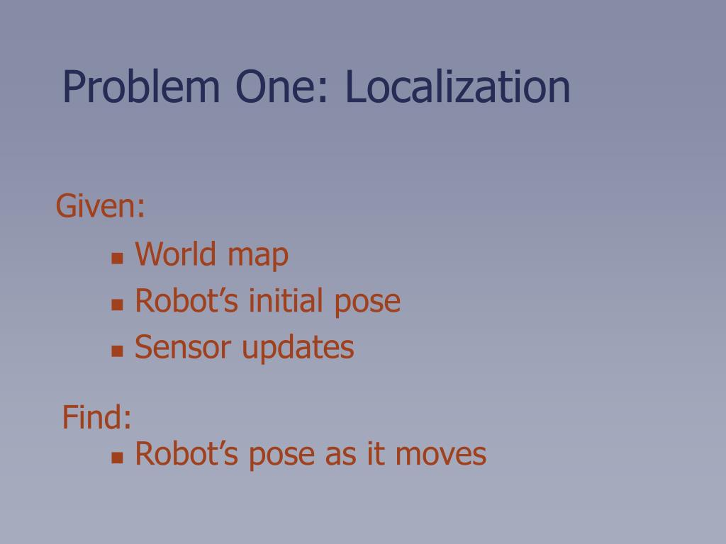 Problem One: Localization