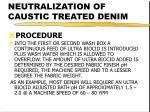 neutralization of caustic treated denim19