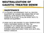 neutralization of caustic treated denim21
