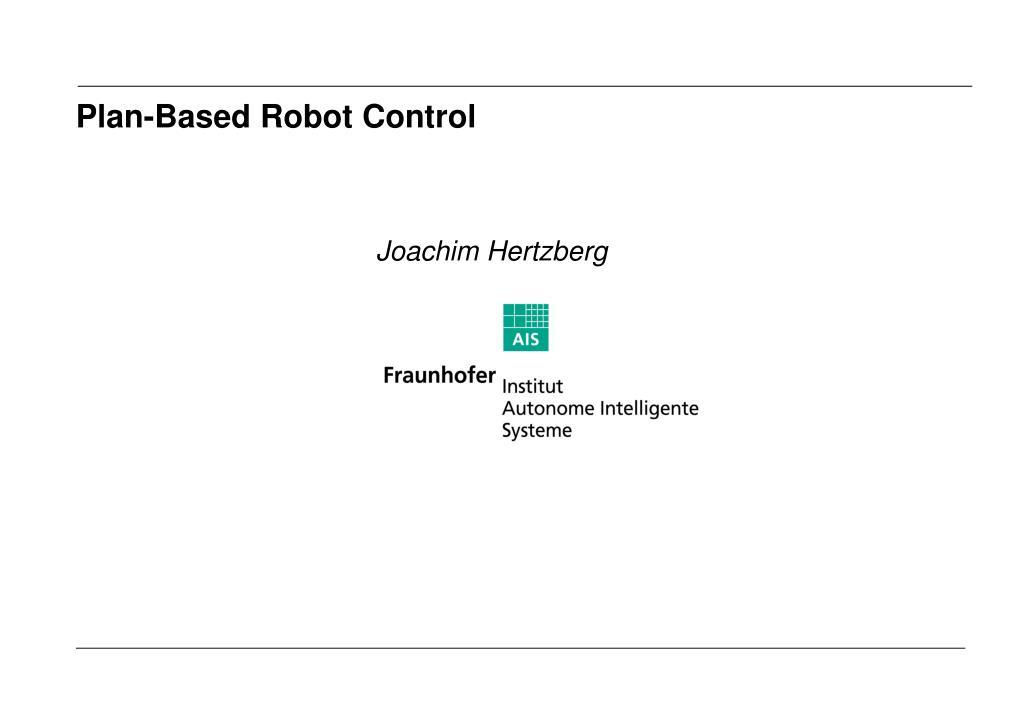 Plan-Based Robot Control