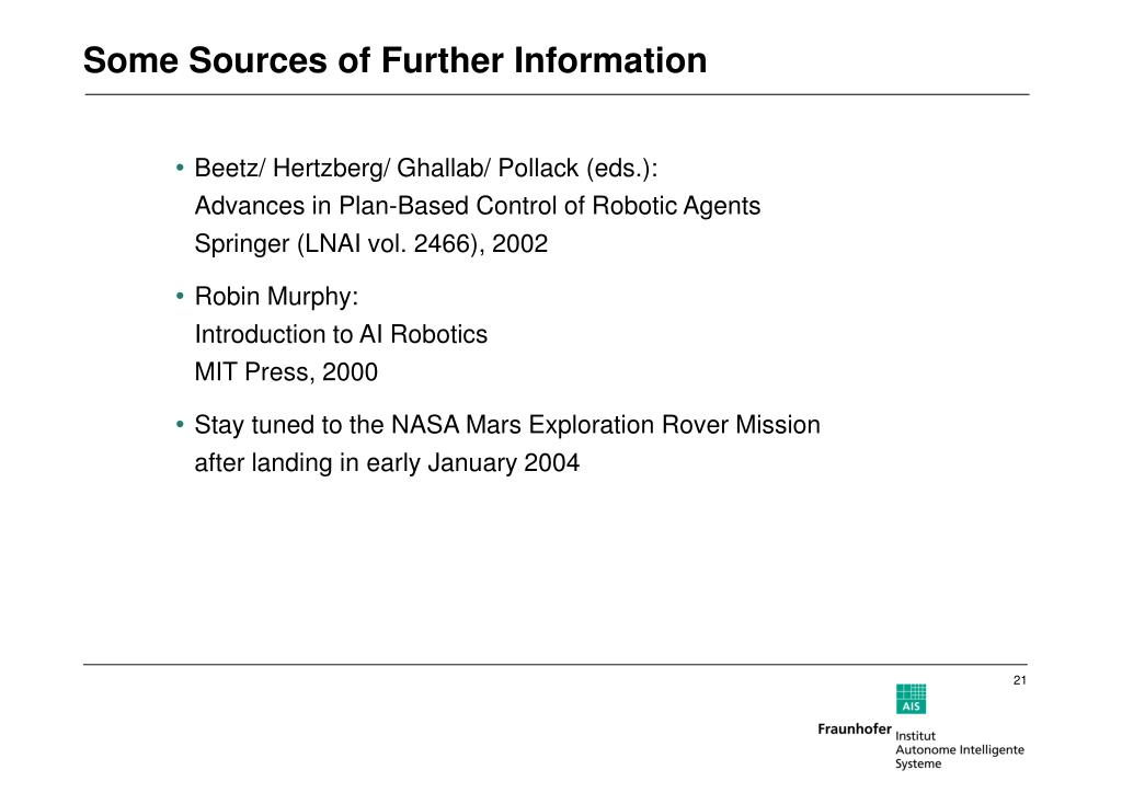 Some Sources of Further Information