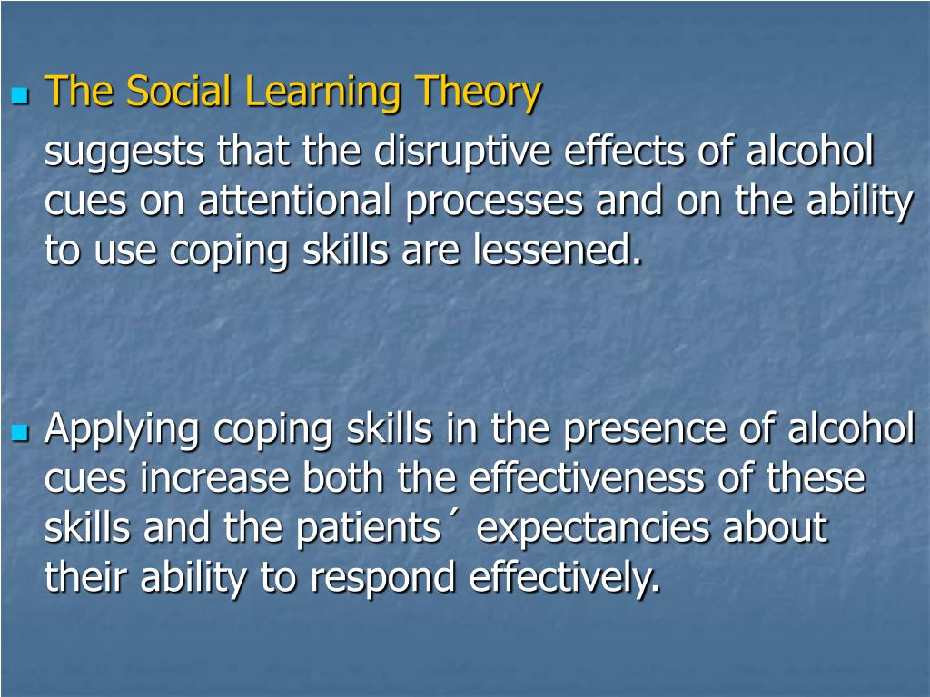 The Social Learning Theory