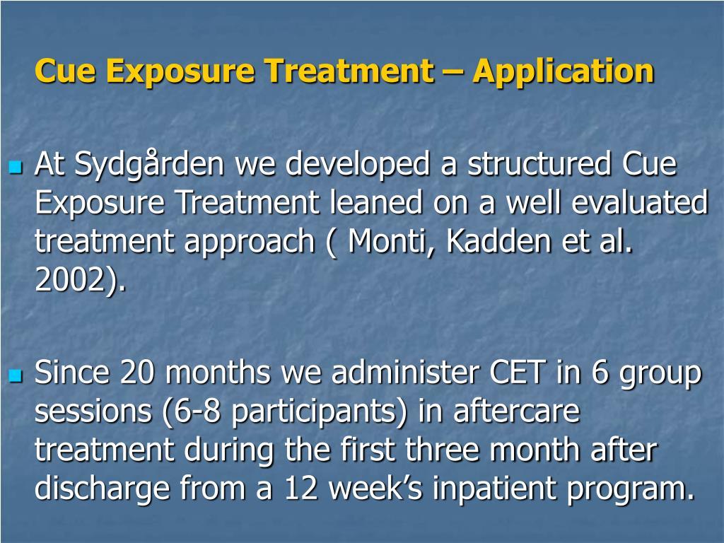 Cue Exposure Treatment – Application
