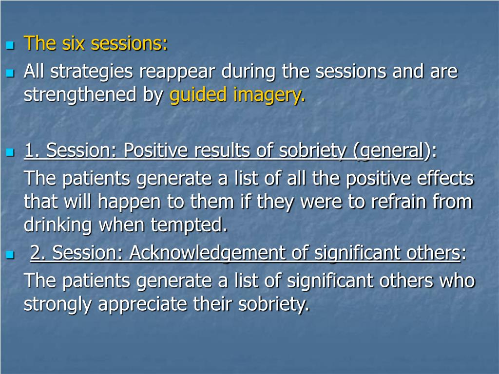 The six sessions: