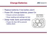 change batteries