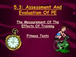 5 3 assessment and evaluation of pe