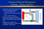 advanced thermal management systems theory and test