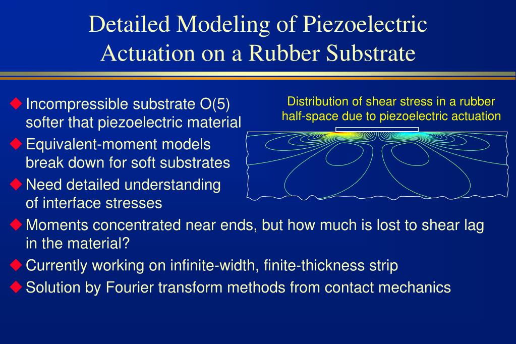 Detailed Modeling of Piezoelectric Actuation on a Rubber Substrate