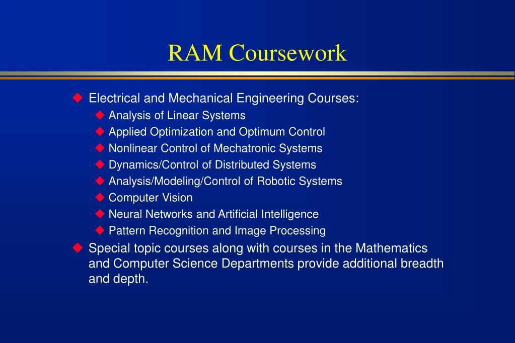 RAM Coursework