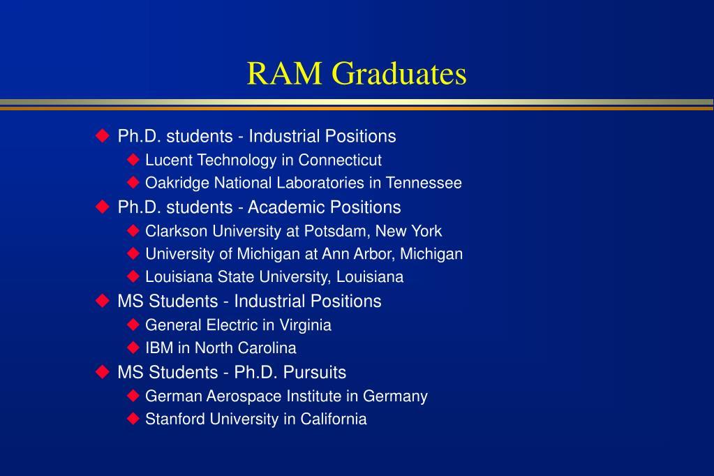 RAM Graduates