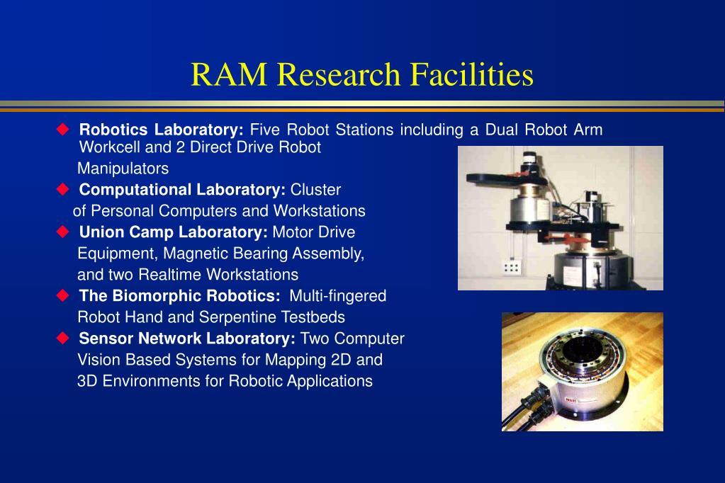 RAM Research Facilities