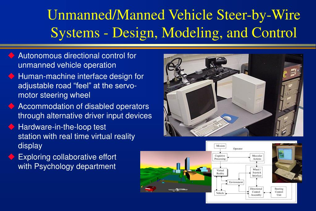 Unmanned/Manned Vehicle Steer-by-Wire Systems - Design, Modeling, and Control