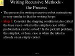 writing recursive methods the process