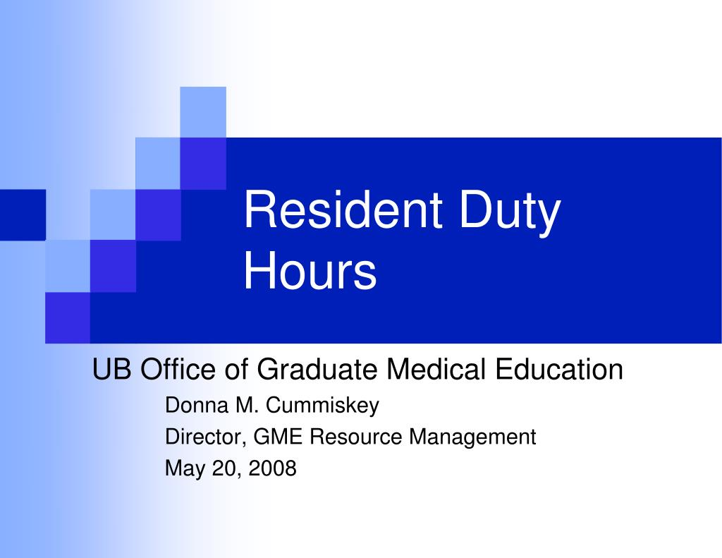 resident duty hours l.