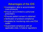 advantages of the ids