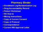 pharmacy binder