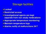 storage facilities
