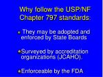 why follow the usp nf chapter 797 standards