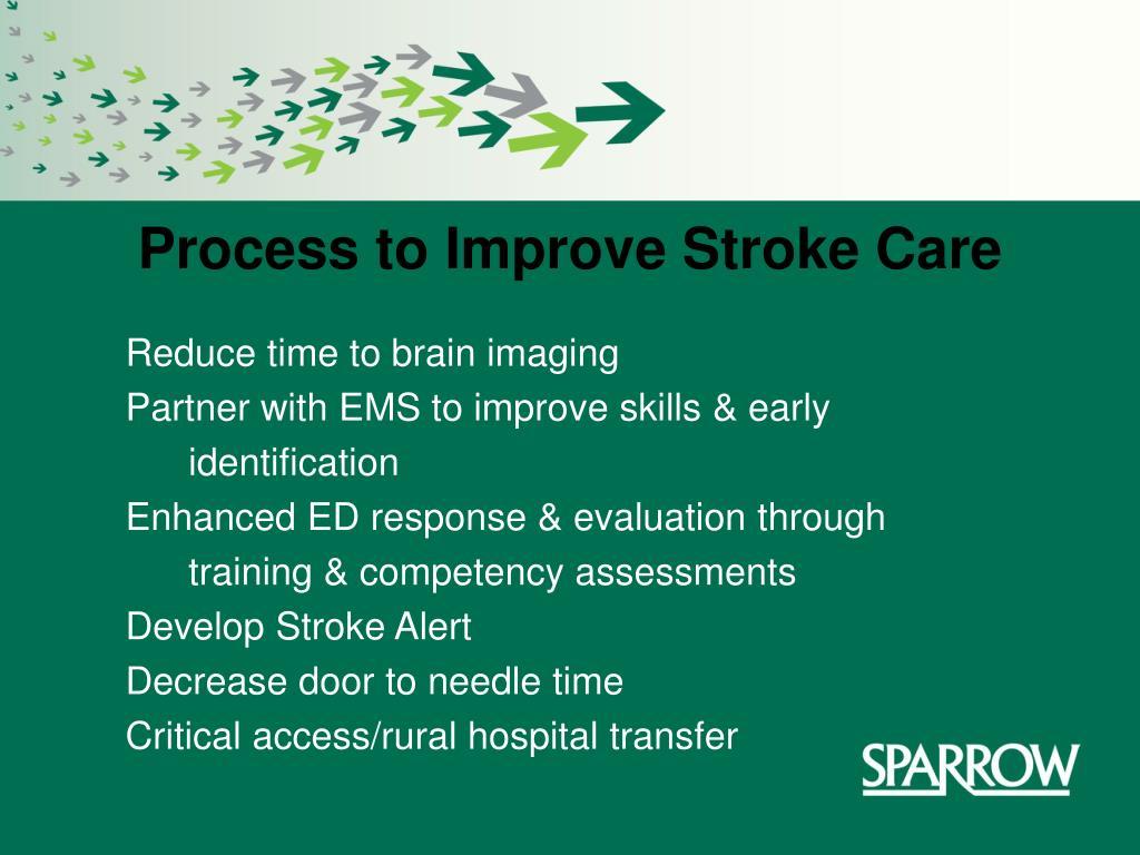 process to improve stroke care l.