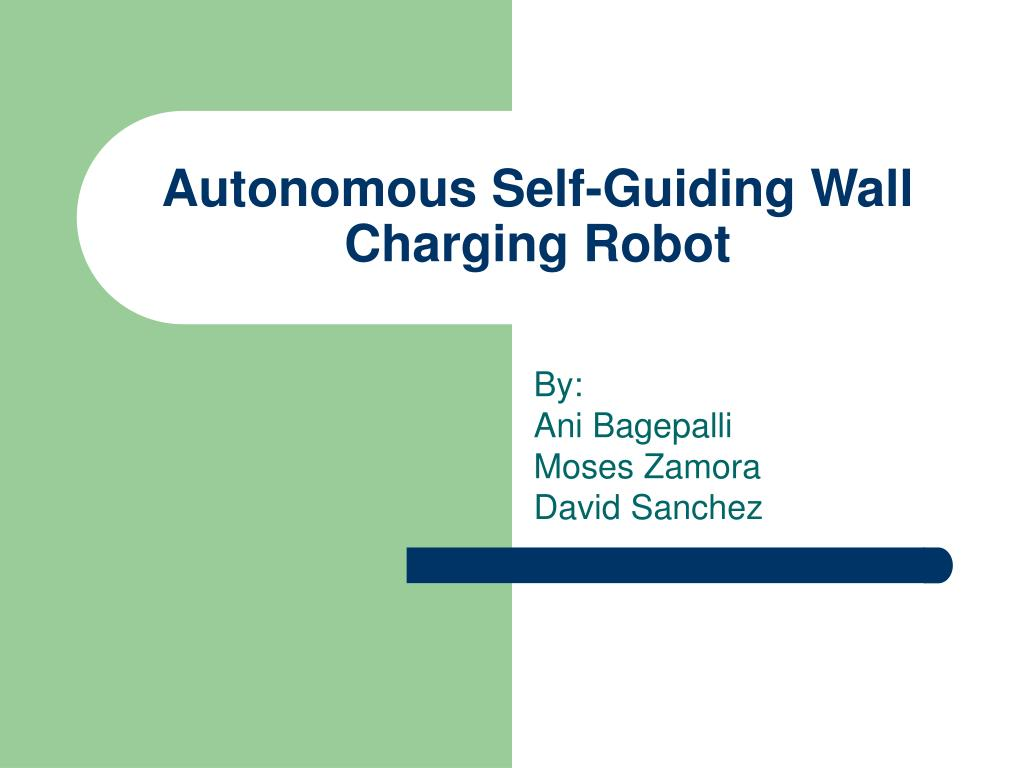 autonomous self guiding wall charging robot l.