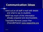communication ideas