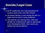 suicide legal case
