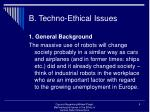 b techno ethical issues