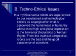 b techno ethical issues17