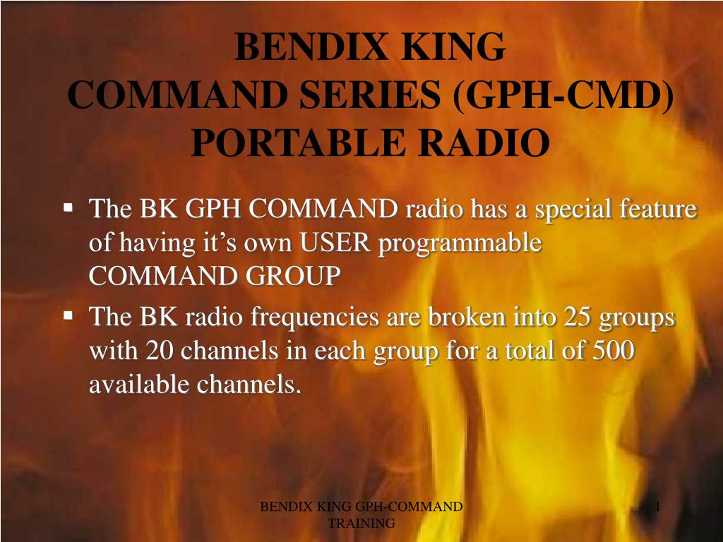 bendix king command series gph cmd portable radio l.