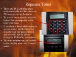 repeater tones