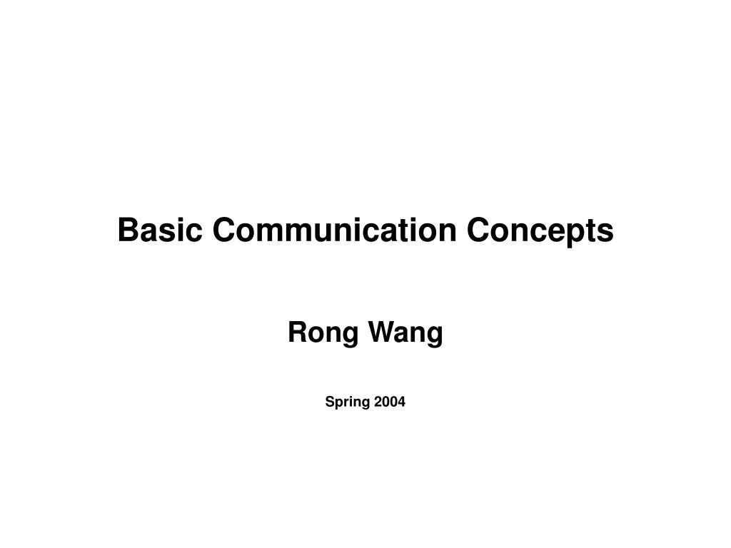 basic communication concepts l.