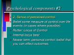 psychological components 2