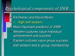 psychological components of swb