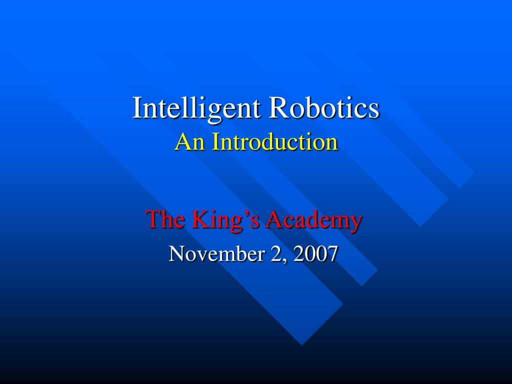 intelligent robotics an introduction l.