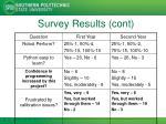 survey results cont