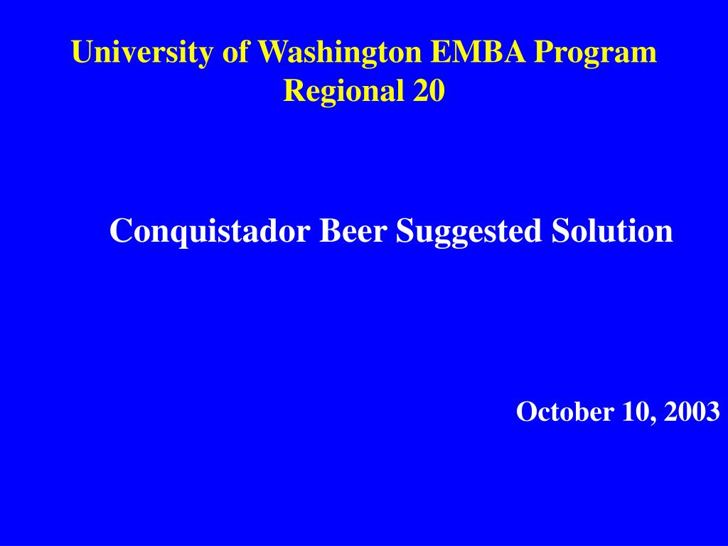 university of washington emba program regional 20 l.