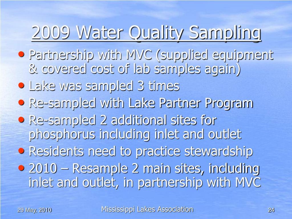 2009 Water Quality Sampling