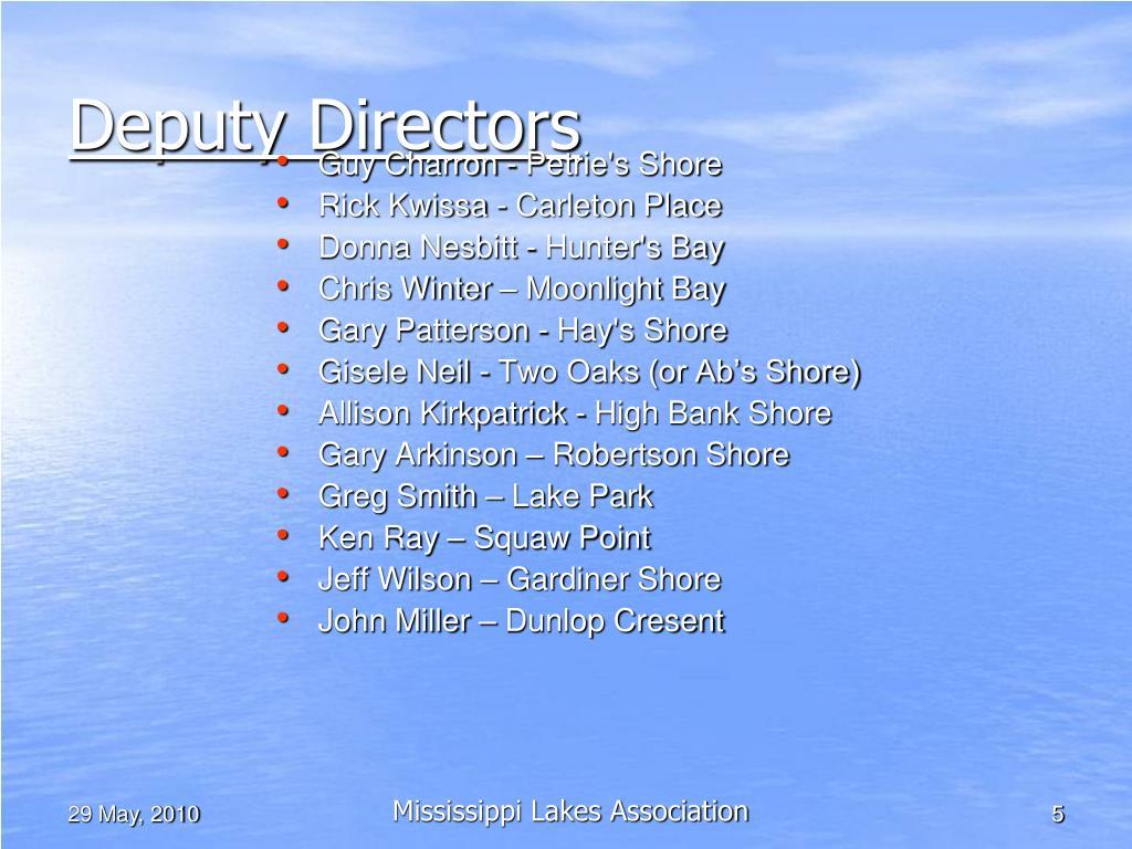 Deputy Directors