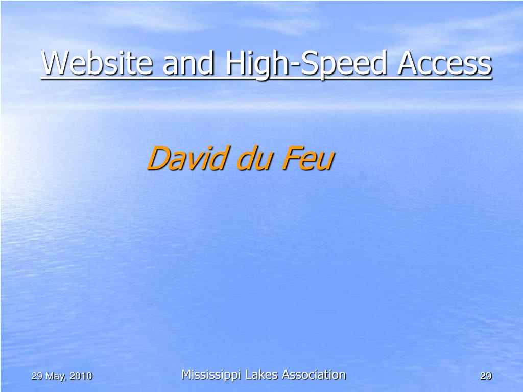 Website and High-Speed Access
