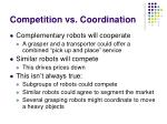 competition vs coordination