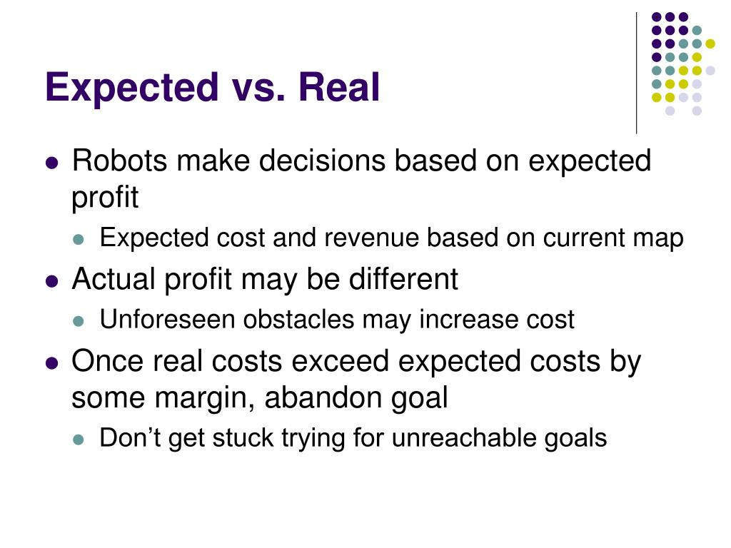 Expected vs. Real