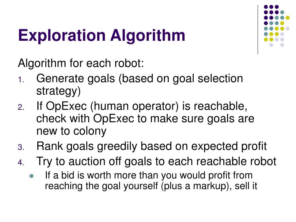 Exploration Algorithm