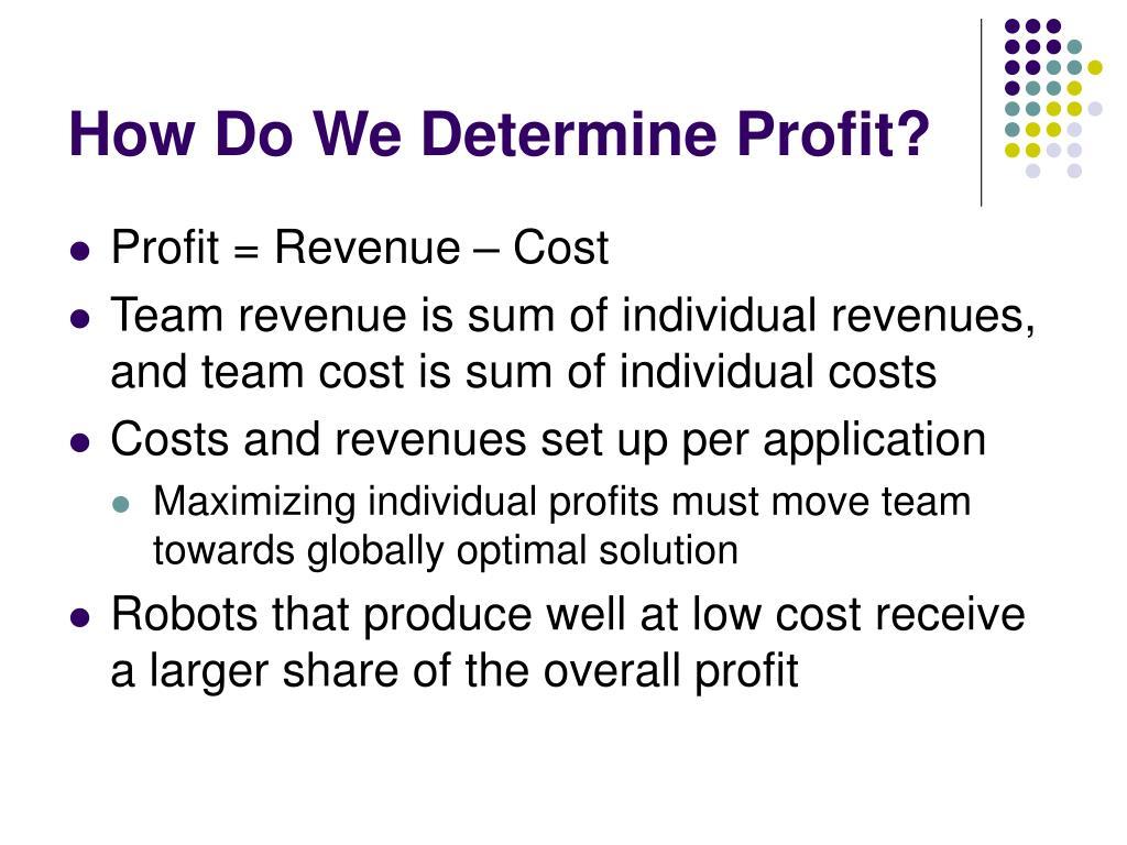 How Do We Determine Profit?