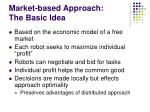 market based approach the basic idea