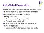 multi robot exploration