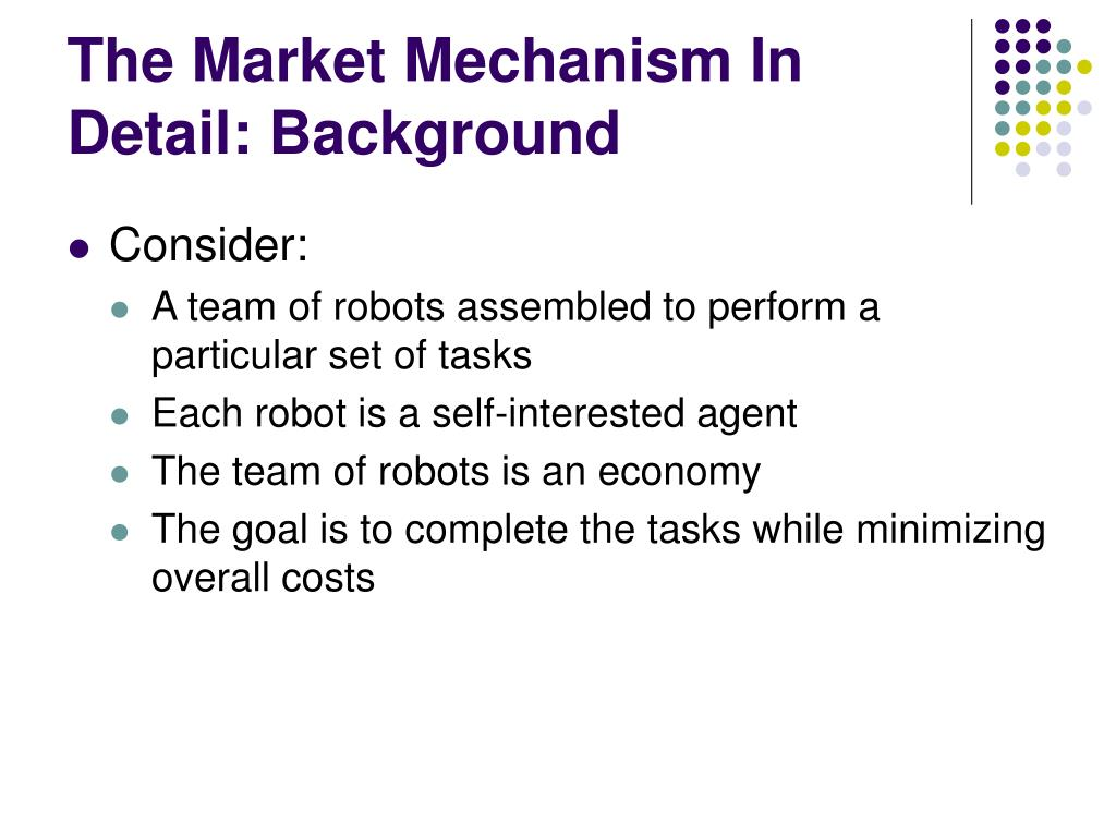 The Market Mechanism In Detail: Background