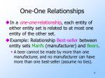one one relationships