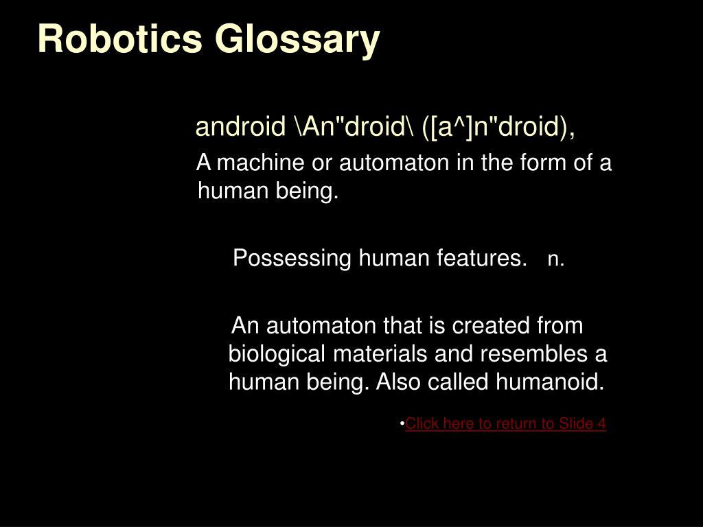 Robotics Glossary