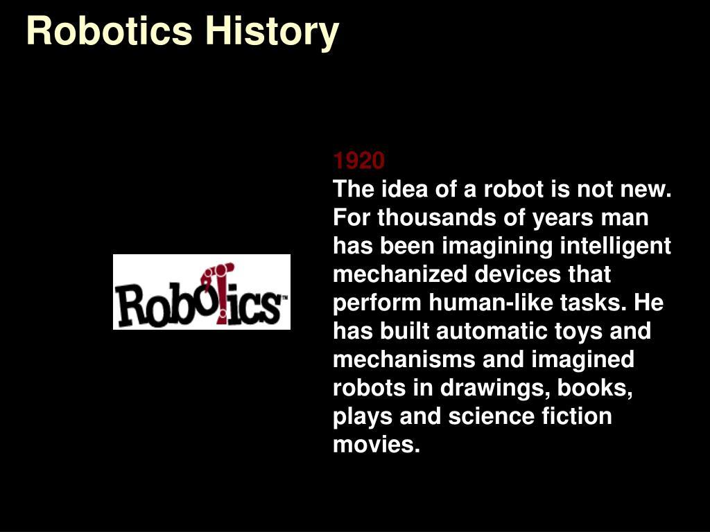 robotics history l.