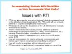 issues with rti